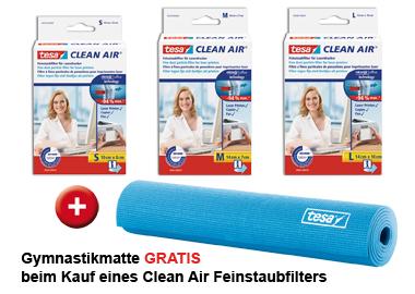 Clean Air Feinstaubfilter + Gymnastikmatte