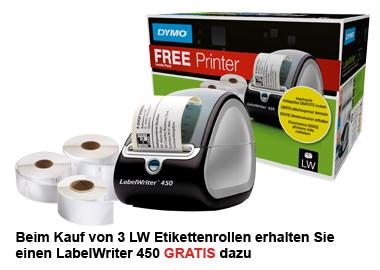 3 LW-Etikettenrollen + LabelWriter 450 GRATIS!