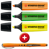 BOSS ORIGINAL Textmarker + Worker+ Tintenroller GRATIS