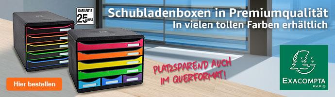 Exacompta Schubladenboxen in Premiumqualität - in vielen tollen Farben erhältlich.